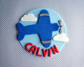 """Airplane cake topper (6"""")"""
