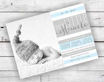Baby Birth Announcement - DIY Printable File
