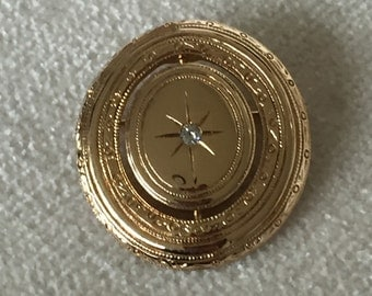 CLEARANCE SALE Avon victorian picture locket brooch