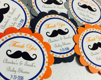 Mustache tags, Mustache favor tags, Mustache babyshower tags