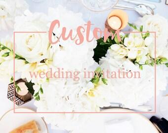 Custom wedding invitation - Wedding invitation design - Printable wedding invitation design