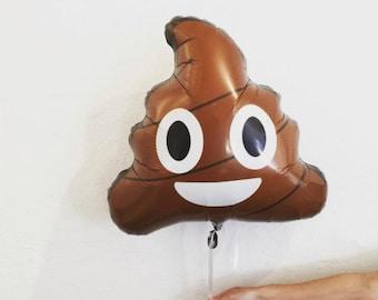 "Poop Emoji Balloon - 24"" Mylar - Petite Party Studio"