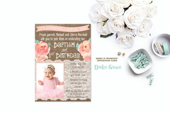 Baptism birthday invitations joint birthday baptism invites like this item stopboris Gallery