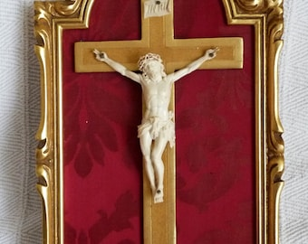 Antique Profession Crucifix Handmade With By