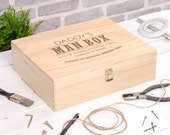 The Ultimate Man Box  Gift For Dad  Fathers Day Gift  Storage Box  Shed  Man Cave  Tool Box  Memory Box  Daddy  FREE UK DELIVERY!
