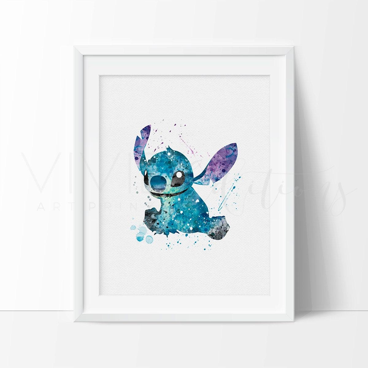 Stitch Print Lilo And Stitch Watercolor Art Nursery Kids