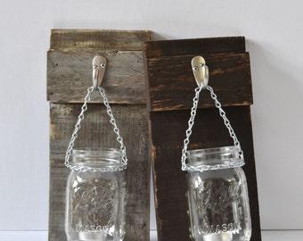 Mason Jar Wall Sconce - Mason Jar Sconce - Mason Jar Wall Hangings - Rustic Mason Jar Sconce - Mason Jar Lanterns - Mason Jar Lantern Sconce
