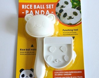 Set of Panda Rice Ball Mold And Nori Punch. Panda Onigiri Rice Ball Maker, Plastic Rice Mold, Sushi Making Set, Party Food Mold, Sushi Tool