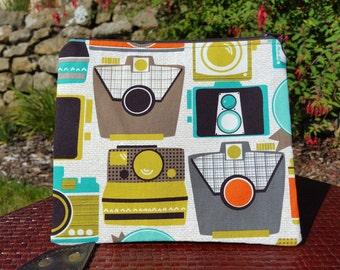 Camera Fabric Makeup Bag
