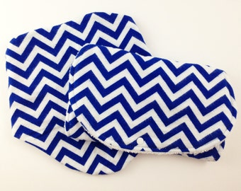 Blue Chevron Baby Bibs and Burp Cloths Boy - Bib and Burp Cloth Set - Newborn Baby Boy Gift Set - Bibs and Burp Cloths for Boys