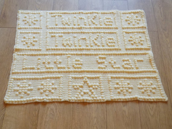 Twinkle Twinkle Little Star Baby Blanket Crochet Pattern