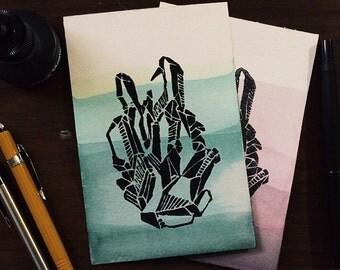 Mossy and Rose Quartz Prints.