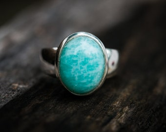 Amazonite Ring Size 9.5 - Amazonite Ring - Amazonite - Amazonite Rings - Amazonite Ring 9.5 - Amazonite Ring - Gorgeous Amazonite Ring