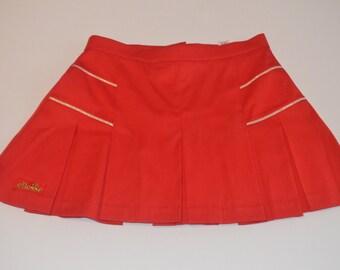 Red Vintage Ellesse Tennis Skirt - Size 6