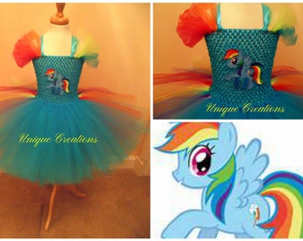Rainbow Pony tutu dress
