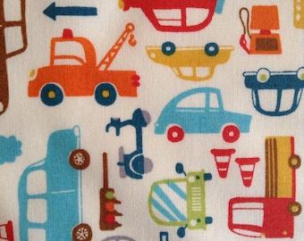 1/2 Yard of Fabric Material - Cars and Trucks