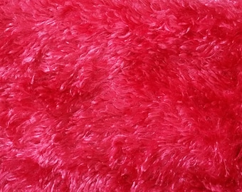 Fat Quarter - Ultra plush Minky Shaggy Cuddle fabric has a smooth surface with a shaggy texture - Plush Cuddle/Minky Fabric