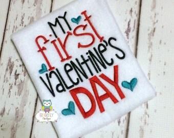 My First Valentine's Day Shirt or Bodysuit, Boy First Valentine, Gender Neutral First Valentine, First Valentine's Day Shirt, Valentine