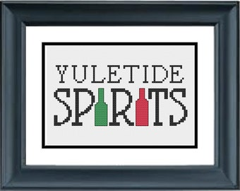 Yuletide Spirits - Christmas Cross Stitch Pattern - PDF Cross-Stitch Pattern