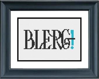 Blerg! - 30 Rock - PDF Cross-Stitch Pattern