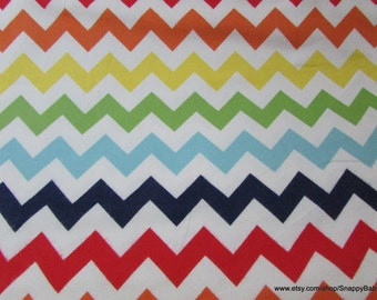 Flannel Fabric - Medium Chevron Rainbow - 1 yard - 100% Cotton Flannel