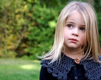 Little Lady Crochet Collar -30 COLORS/littlegirl/kids/baby/scarf/oatmeal/vintage/knit/stretchy/cozy/warm/winter