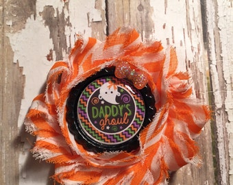 Daddys ghoul single shabby flower hair clip