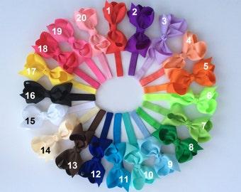 10%Off/ 15 baby headbands/ 15 hair bows/ girl headband/ baby headband bow/ headband bow/ infant headband/ newborn headband/ elastic headband