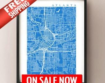 Atlanta Map Art