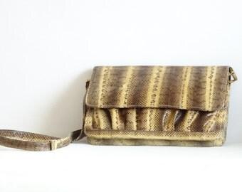 Vintage Snakeskin Handbag, Genuine Snakeskin Shoulderbag
