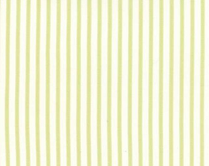 Bespoke Blooms Ticking Stripe Light Green - 1/2yd