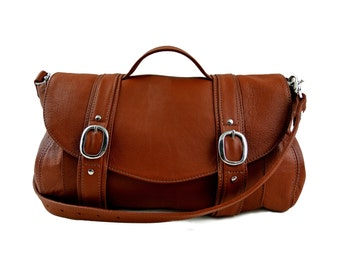 Tan Brown Leather Preston Bag
