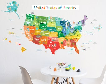 Making The World Beautiful One Wall At A Time By TheLovelyWall - Us map wall decor