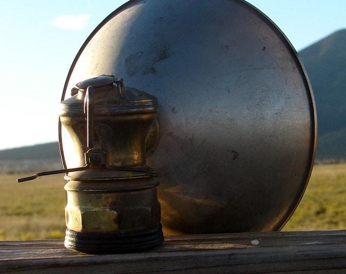"Antique ""Auto-Lite"" Carbide Head Lamp"