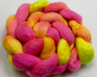 BFL, 4oz, Wool, Fiber, Roving, felting, Hand Dyed, Spinning, Spindle, Long Wool, 914