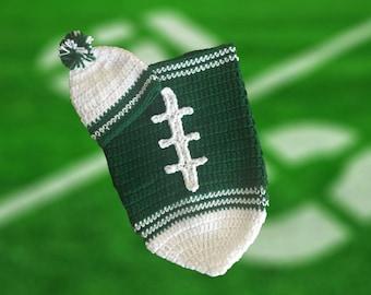 New York Jets Fan Favorite Baby Boy Football Cocoon & Hat (Newborn to 3 months)
