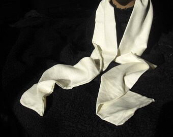 PEACE SILK SCARF - Long - Natural Peace Silk -  Wild Crafted or Semi-Wild Crafted Organic silk - Creulty Free Silk.