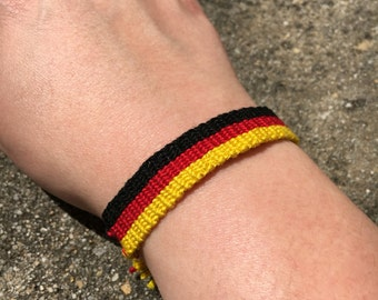The German Flag Friendship Bracelet