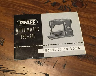 Pfaff Sewing Machine Instruction Booklet 360-261 1963/64