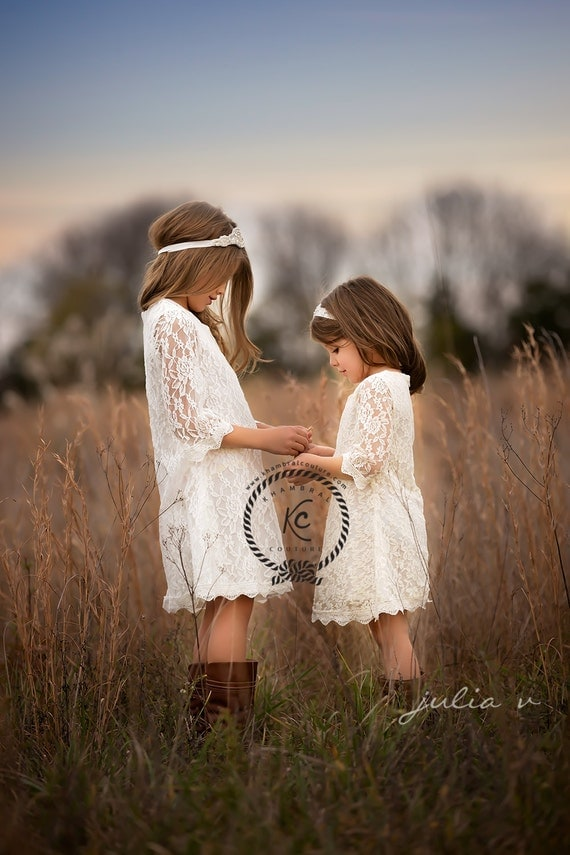 flower girl dress white flower girl dress girls lace dress lace dress toddler lace dress boho flower girl dress flower girl dress lace