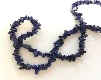 Lapizs stoneChip Beads