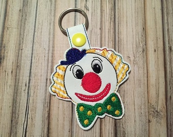Clown - Circus - Key Fob Design -  In The Hoop - DIGITAL Embroidery DESIGN