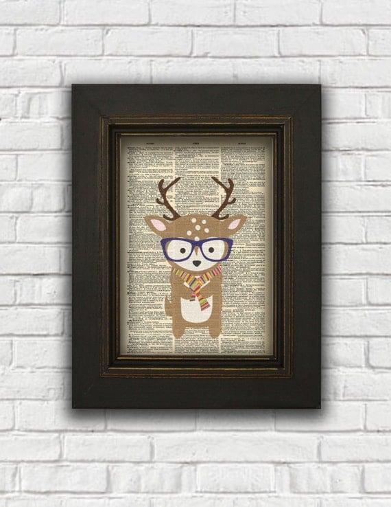 Articles similaires art de dictionnaire pour le cerf for Decoration murale hipster