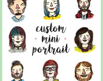 Custom Color Mini Portrait Illustration