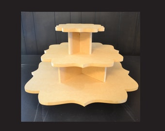 3 tier unpainted cupcake stand, cupcake holders, cupcake tower, cupcake stand, wedding cake stand, cupcake tower, F-8,14,20
