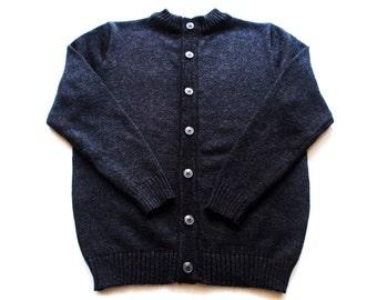 Men's Merino wool crew-neck cardigan/sweater cardigan/jacket/jumper/vest