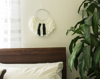 SALE Modern Black and White Circular Wall Decor