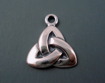 Celtic Knot Sterling Silver Charm, High quality Sterling Small Charm