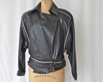 1980's Women's Leather Biker Jacket