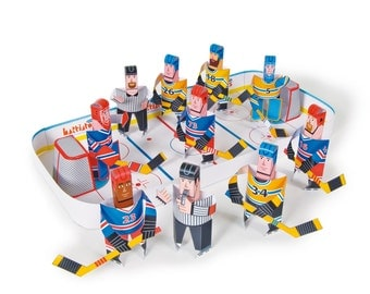 Ice Hockey | DIY Paper Craft Kit | 3D Paper Toys | Colourful Cutouts to Assemble | Creative Activity